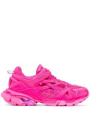 Розовые кроссовки сетчатые со вставками Balenciaga