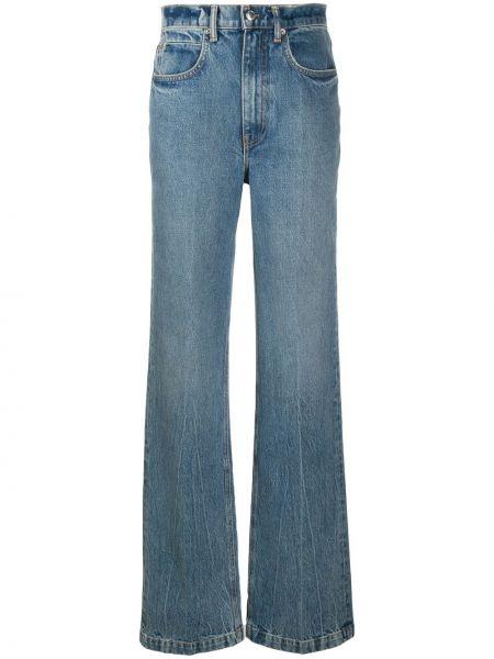 Z wysokim stanem niebieski jeansy na wysokości z kieszeniami bezpłatne cięcie Alexander Wang