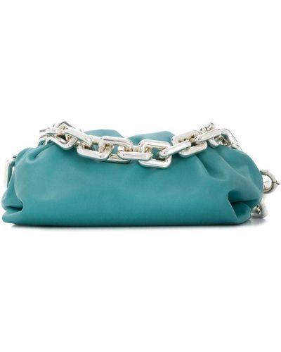 Синяя кожаная сумка на цепочке Bottega Veneta