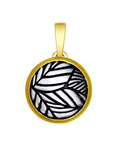 Серебряная подвеска золотой Sokolov