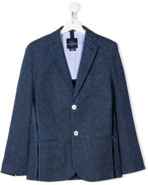 С рукавами синий пиджак с подкладкой на пуговицах Harmont & Blaine Junior