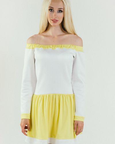 Повседневное платье весеннее желтый Подіум