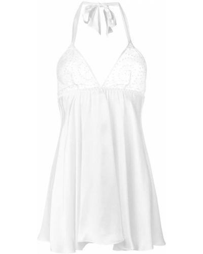 Белая ночнушка шелковая Gilda & Pearl