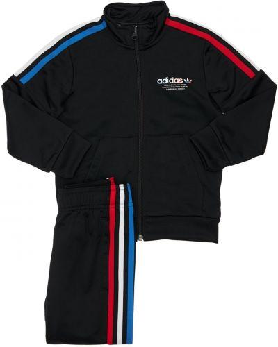 Czarne spodnie w paski Adidas Originals