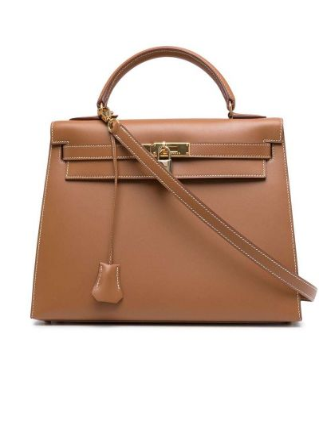 Brązowa torebka skórzana Hermes
