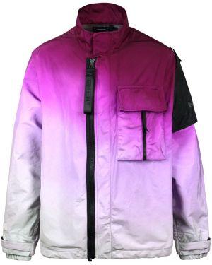Fioletowa kurtka z nylonu Nemen