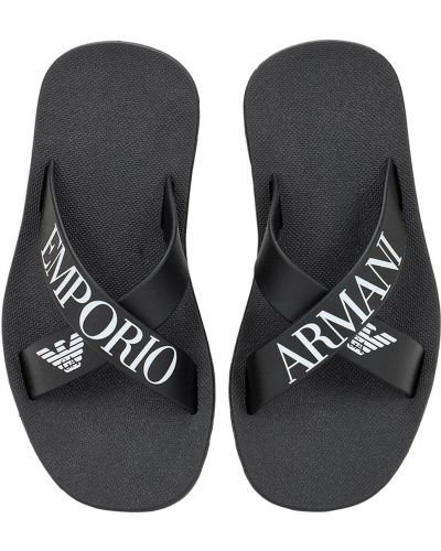 Czarne klapki Emporio Armani