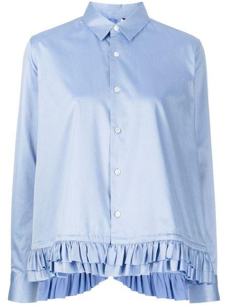 Хлопковая блузка - синяя Comme Des Garçons Noir Kei Ninomiya
