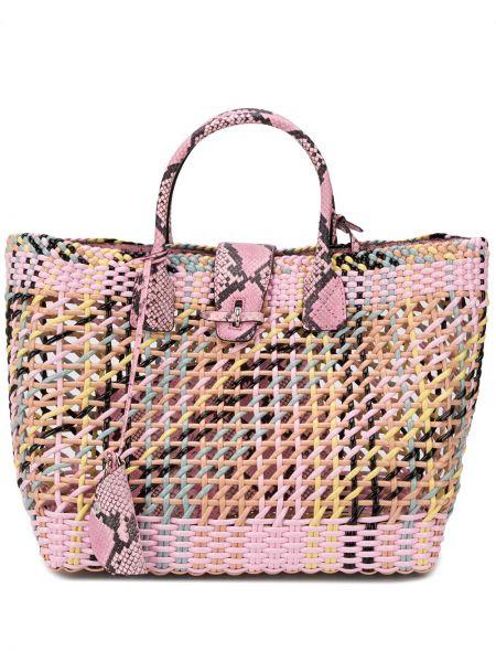 Skórzana torebka na ramię z uchwytem Ermanno Scervino