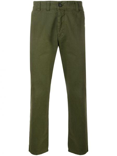 Bawełna zielony spodnie z paskiem z haftem Acne Studios