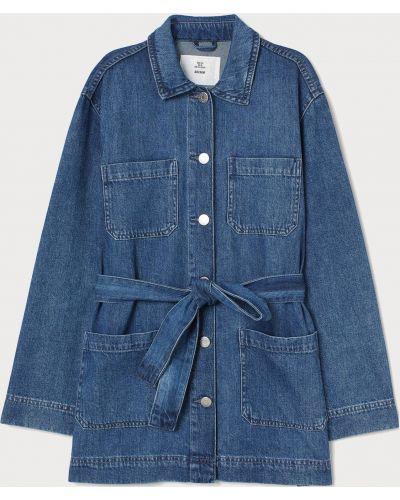 Джинсовая куртка на пуговицах - голубая H&m