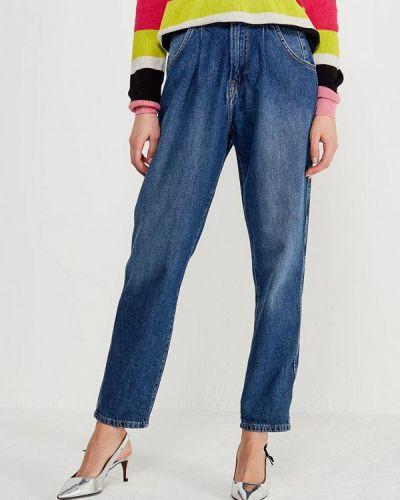 Синие джинсы с высокой посадкой Pepe Jeans