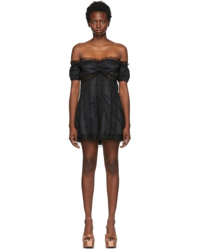 Czarna sukienka bawełniana Wandering