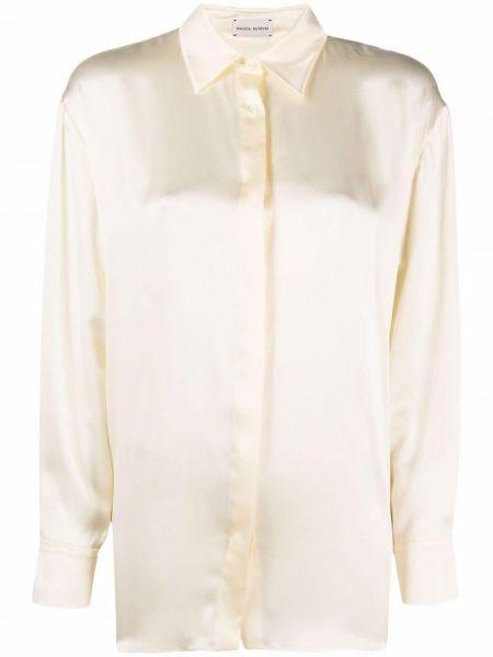 Шелковая классическая рубашка с длинными рукавами с воротником Magda Butrym