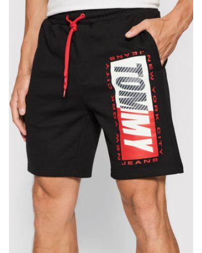Czarne spodenki sportowe Tommy Jeans