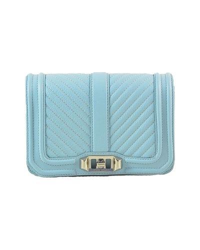 Niebieska torebka pikowana Rebecca Minkoff