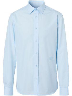 Bawełna z rękawami klasyczna koszula z haftem Burberry