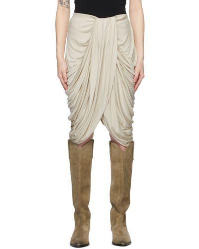 Шелковая белая юбка мини Isabel Marant
