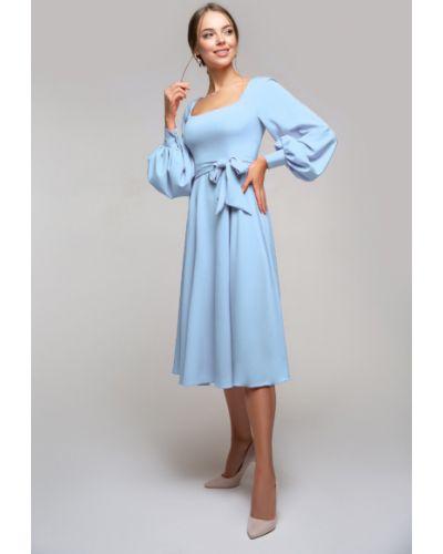 Приталенное нарядное платье с поясом Петербургский Швейный Дом