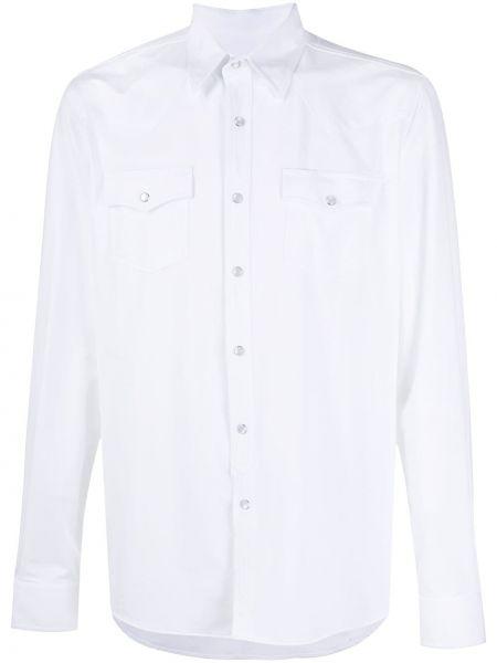 Biała koszula z długimi rękawami zapinane na guziki Hydrogen