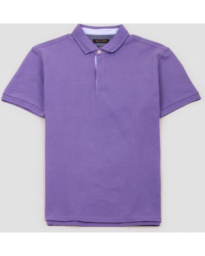 Фиолетовый поло с короткими рукавами Massimo Dutti