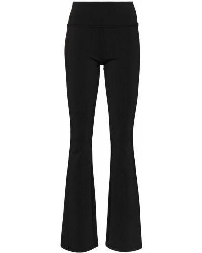 Czarne legginsy z nylonu rozkloszowane Danielle Guizio