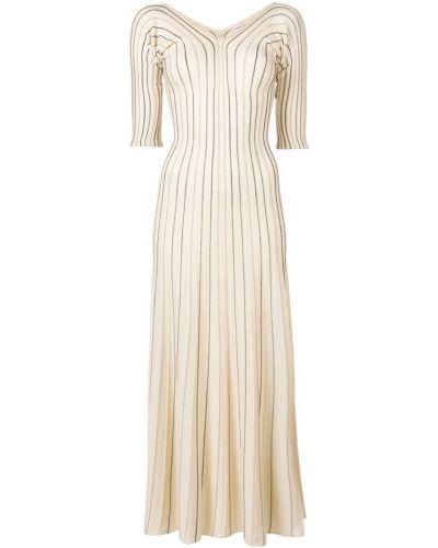 Платье макси длинное - бежевое Sonia Rykiel