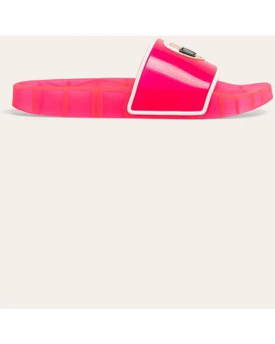 Różowe sandały na obcasie Karl Lagerfeld