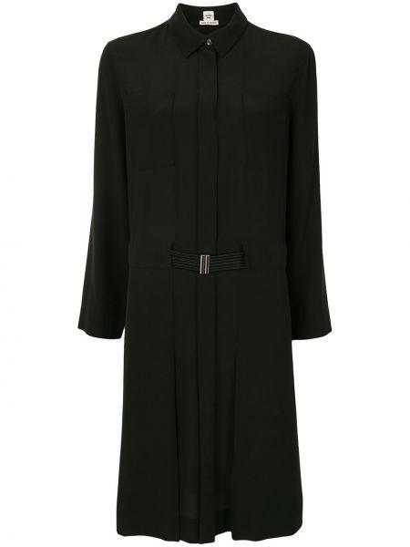 Платье с поясом винтажная платье-рубашка Hermès