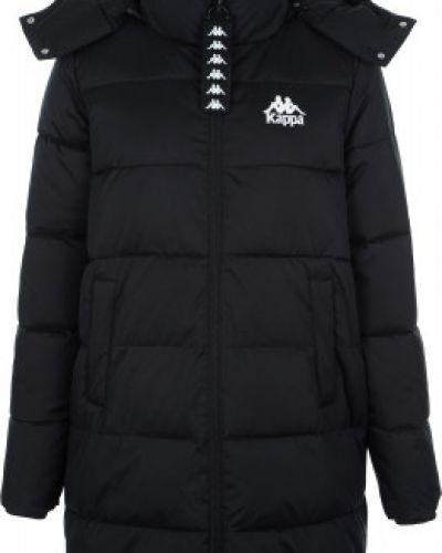 Куртка с капюшоном утепленная черная Kappa