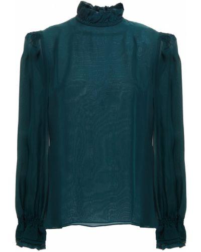 Шелковая блузка - зеленая Goat