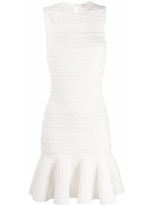 Prążkowana sukienka rozkloszowana sylwestrowa Alexander Mcqueen