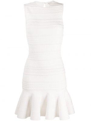 Платье в рубчик с рукавами Alexander Mcqueen