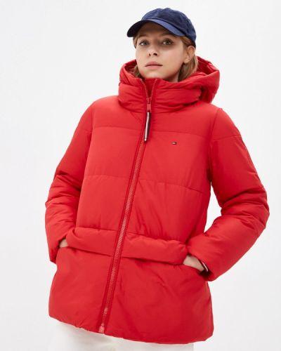 Утепленная куртка - красная Tommy Hilfiger