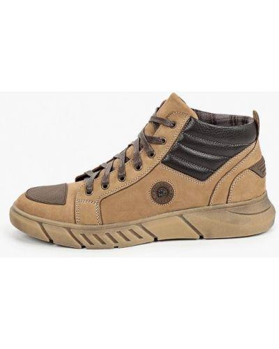 Коричневые ботинки из нубука Valser