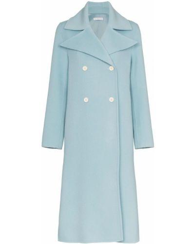 Синее длинное пальто с капюшоном Rejina Pyo