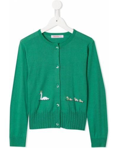 Кардиган зеленый серый Familiar