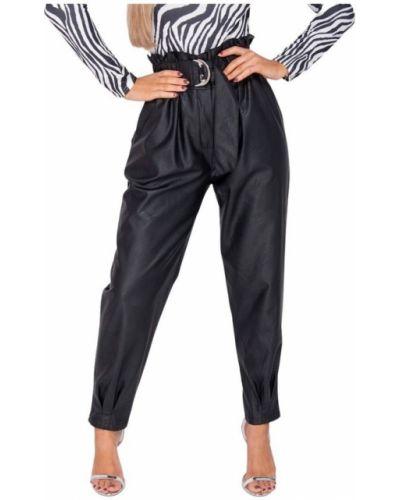 Czarne spodnie paperbag Parisian