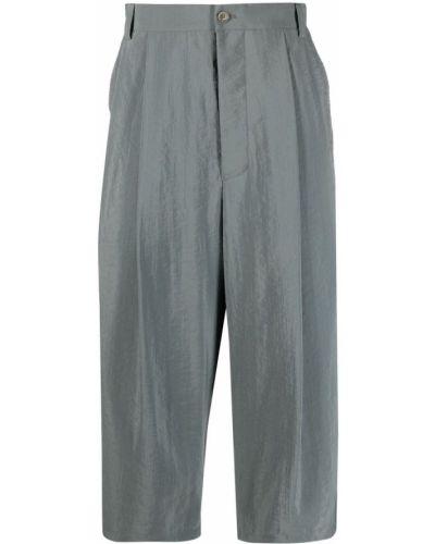 Spodnie skorzane z paskiem Giorgio Armani