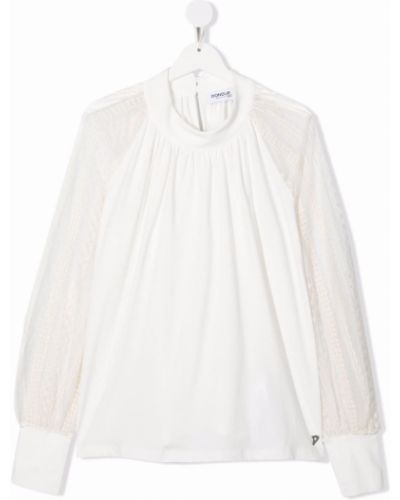 Bluzka z haftem - biała Dondup Kids