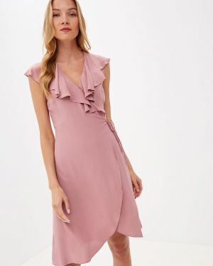 Платье розовое с запахом Lusio