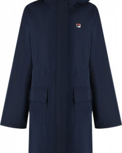 Синяя куртка с капюшоном на молнии Fila