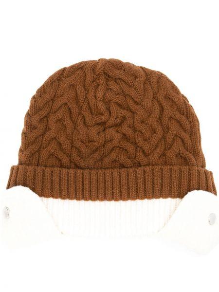Brązowy kapelusz wełniany Sunnei