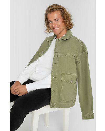 Хлопковый зеленый пиджак Ostin
