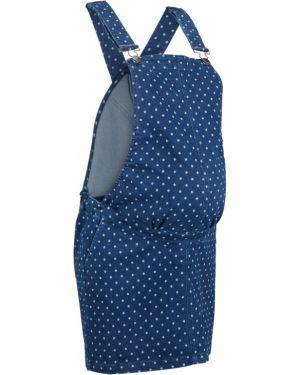 Платье для беременных джинсовое на бретелях Bonprix