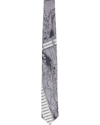 Krawat z jedwabiu - biały Tiger Of Sweden