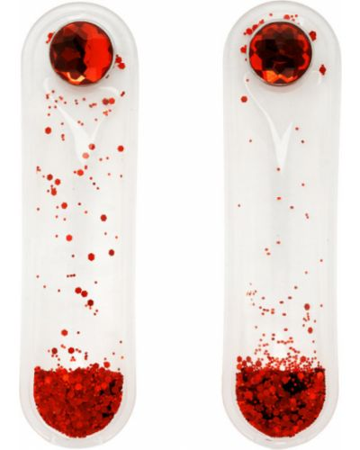 Серьги-гвоздики с глиттером прозрачные Christopher Kane