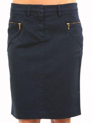 Хлопковая юбка - синяя Cerruti 18crr81