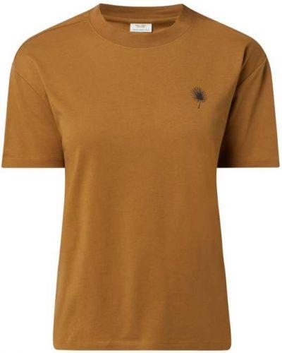 T-shirt z printem - brązowa Marc O'polo Denim