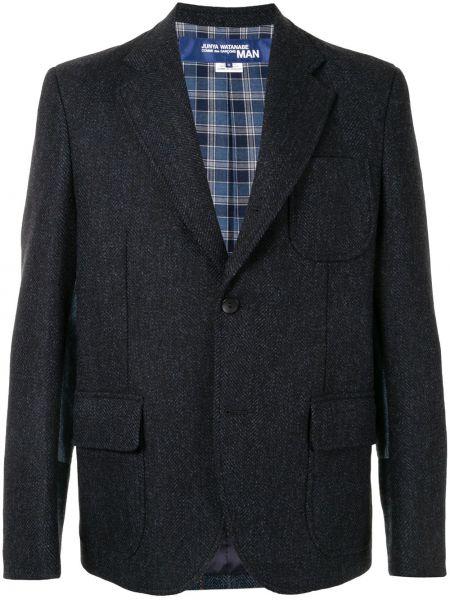 Синий классический классический пиджак на пуговицах с лацканами Junya Watanabe Man